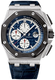 Audemars Piguet Royal Oak Offshore Niebieski/Skóra Ø44 mm 26401PO.OO.A018CR.01