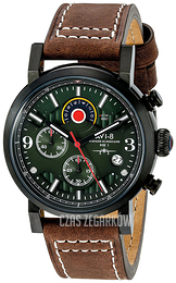 AVI-8 Hawker Hurricane Zielony/Skóra Ø42 mm AV-4041-04