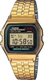 Casio Casio Collection Stal w odcieniu złota 36.8x33.2 mm A159WGEA-1EF