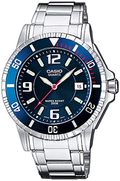 Casio Casio Collection Niebieski/Stal Ø42.6 mm MTD-1053D-2AVES