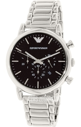 Emporio Armani Dress Czarny/Stal Ø46 mm AR1894