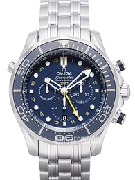 Omega Seamaster Diver 300m Co-Axial GMT Chronograph 44mm Niebieski/Stal Ø44 mm 212.30.44.52.03.001