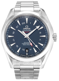 Omega Seamaster Aqua Terra 150m Co-Axial GMT 43mm Niebieski/Stal Ø43 mm 231.10.43.22.03.001