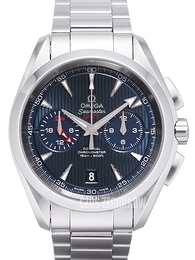 Omega Seamaster Aqua Terra 150m Co-Axial Chronograph GMT 43mm Niebieski/Stal Ø43 mm 231.10.43.52.03.001