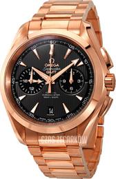 b710f8f06bb155 Omega Seamaster Aqua Terra 150m Co-Axial Chronograph GMT 43mm Szary/18  karatowe różowe