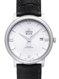 Omega De Ville Prestige Co-Axial 39.5mm Srebrny/Skóra Ø39.5 mm 424.13.40.20.02.001