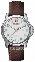 Swiss Military Dress Srebrny/Skóra Ø39 mm 06-4231.04.001