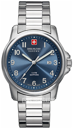 Swiss Military Dress Niebieski/Stal Ø39 mm 06-5231.04.003