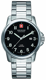 Swiss Military Dress Czarny/Stal Ø39 mm 06-5231.04.007