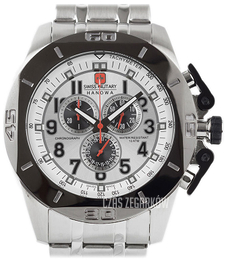 Swiss Military Sport Srebrny/Stal Ø50 mm 06-5295.04.001.30