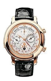Patek Philippe Grand Complications Sky Moon Tourbillon Biały/Skóra Ø42.8 mm 5002R/001