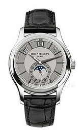 Patek Philippe Complicated Annual Calender Srebrny/Skóra Ø40 mm 5205G/001